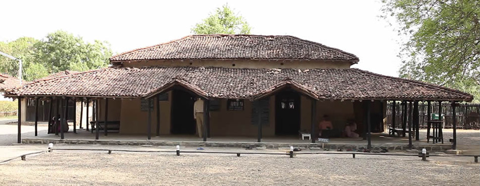 Adi Nivas (the first cottage) and Prayer Ground