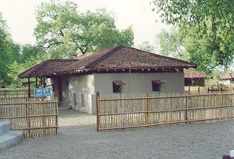 Sevagram ashram near Wardha in Maharashtra founded by Gandhiji in 1936.